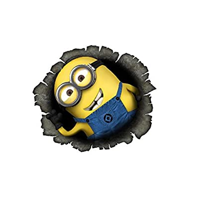"topthaishop 2X Minion Breaking Through Decal Sticker Car Truck Bumper Laptop Love Hug Stick Despicable Me Funny Stuart Bob (5"" w x 4"" h): Sports & Outdoors"