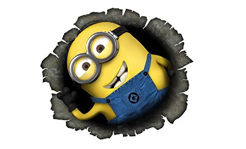 2x Minion Breaking Through Decal Sticker Car Truck Bumper Laptop Love Hug Stick Despicable Me Funny Stuart Bob (5