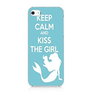 Keep Calm and Kiss the Girl Mermaid Style Case Cover for Iphone 6 plus 5.5 2013 New