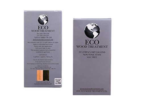 Eco Wood Treatment EWT5 2 Pack 5 Gallon Eco Wood Treatment, Silvery Patina by Eco Wood Treatment