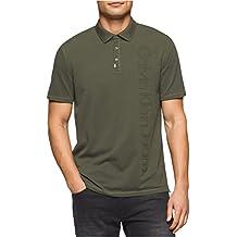 Calvin Klein Mens Stitched Logo Rugby Polo Shirt vertigo320 S