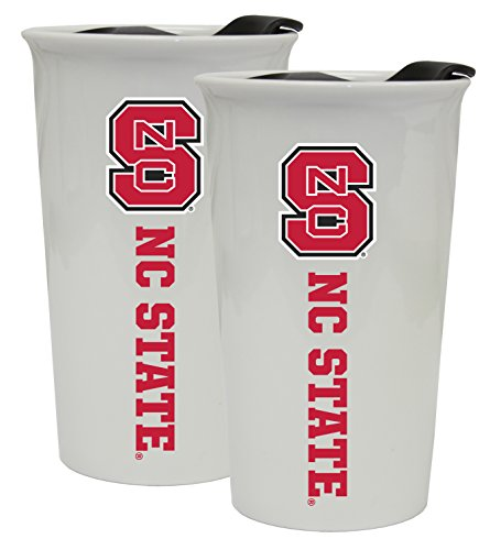 NC State Wolfpack Double Walled Ceramic Tumbler 2-Pack