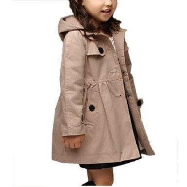 Breasted Windbreaker Years Girls 8 2 Eshions Baby Coat Double Trench Jacket Outwear Khaki Dress wn4wRqx
