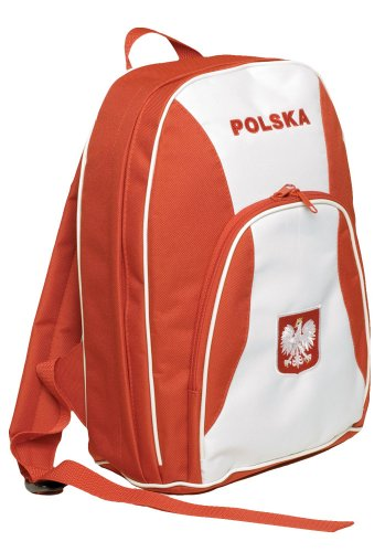 Backpack - Two Pockets, POLSKA with Embroidered White Eagle