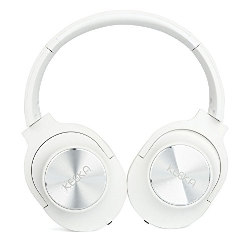 Axiba Over Ear Headphones with Microphones Lightweight Foldable Hi-Fi Stereo and Noise Cancelling Wired Headsets for Computer Cell Phones MP3 (White)