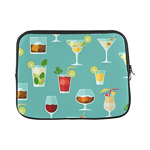 Design Custom Cocktail Color Design Creative Romance Sleeve Soft Laptop Case Bag Pouch Skin for MacBook Air 11