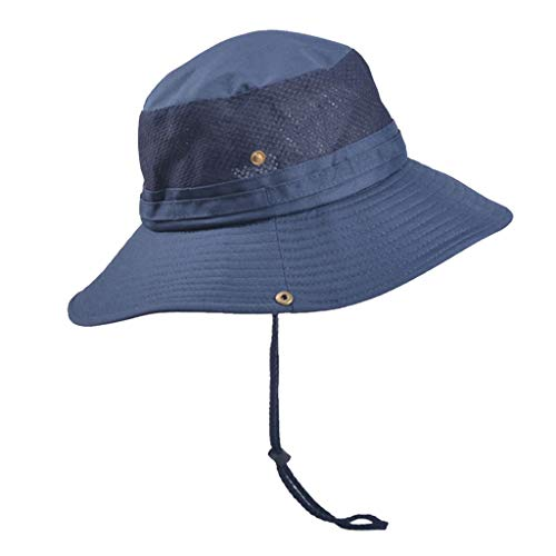 (Dainzuy Fishing Hat,Men and Women Boonie Hat Waterproof Summer Sun Protection Outdoor Hunting Wide Brim Breathable Navy)