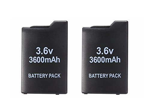 MaxLLTo 2x 3.6V 3600mah Rechargeable Battery for Sony PSP-110 PSP-1001 PSP 1000 (Psp Battery)