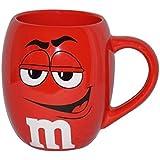 M&Ms Big Face Ceramic Barrel Character Mug w/Signature-Red
