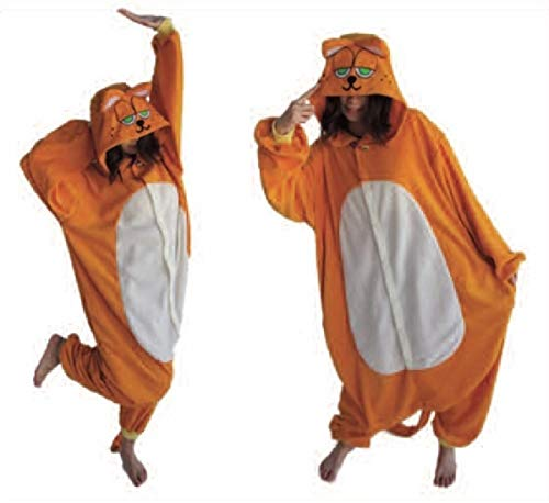 Adult Size Cushzilla Cat Z Cozy Cushy Pajama Kurigami Garfield ()