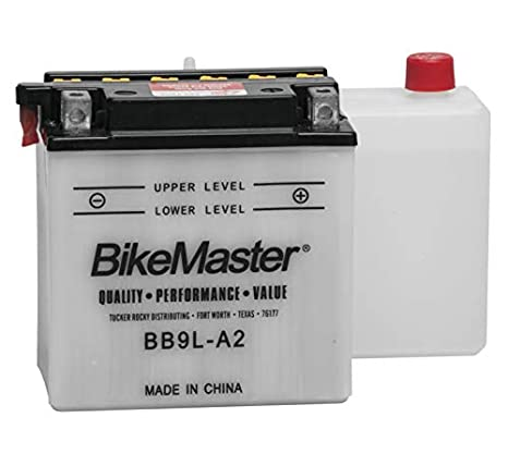 Amazon.com: BikeMaster Conventional Battery BB9L-A2 for ...