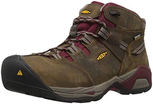 (Keen Utility Women's Detroit XT Mid Steel Toe Waterproof Industrial Boot, Black Olive/Tawny Red, 9.5 W US )