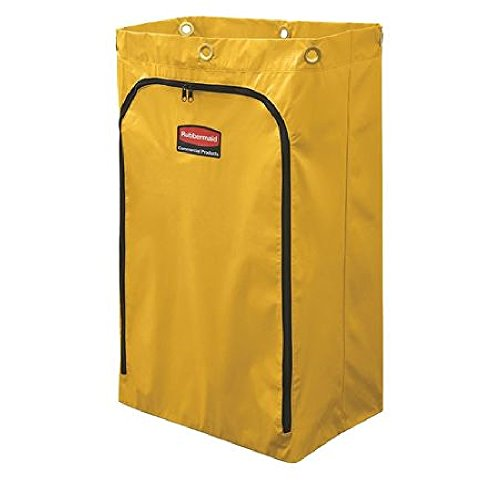 Zoom Supply Rubbermaid 6183 Cart Bag, Commercial-Grade Rubbermaid Trash Cart Bag, Rugged Yellow Vinyl Rubbermaid Cleaning Cart Bag -- Unlike Whimpy Cheapies This Lasts Way, Way Longer by Zoom Supply (Image #1)