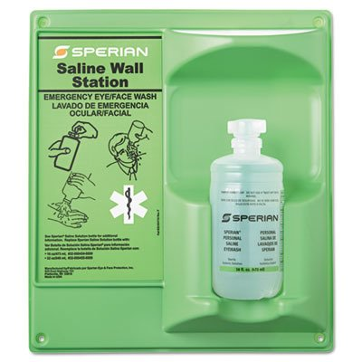 - Eyesaline Single 16 Oz Wall Station, Sold As 1 Kit