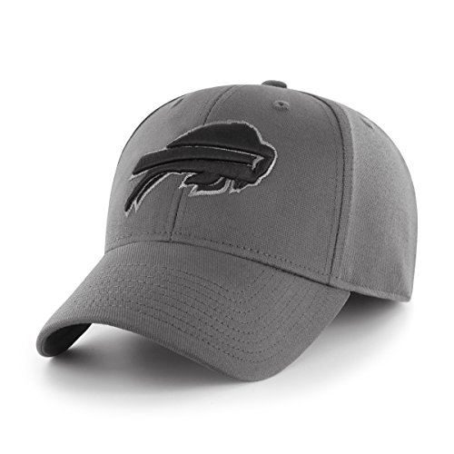 OTS NFL Buffalo Bills Comer Center Stretch Fit Hat, Charcoal, Large/X-Large
