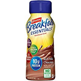 Carnation Breakfast Essentials Ready-to-Drink, Rich Milk Chocolate, 8 Ounce Bottle (Pack of 24)