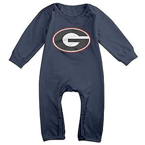 HOHOE Babys University Of Georgia UGA Long Sleeve Bodysuit Outfits 24 M