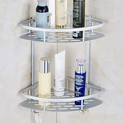 (Beyonds 2-shlf Bathroom Shelf [Drill-Free/Load-Bearing/Corner Storage/no Space] Suction Wall Bathroom Rack Bathroom Shelf Bathroom Wall Mounted Tripod Toilet Storage Rack)