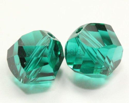 50 6mm Adabele Austrian Helix Crystal Beads Emerald Alternative For Swarovski Preciosa Crystalized Beads 5020 #SSH-624