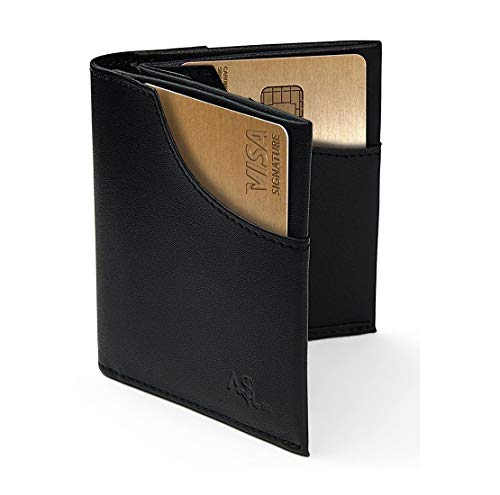 c154772360e Slim Men s Wallet RFID Blocking Compact Front and Back Pocket Leather Card  Holder
