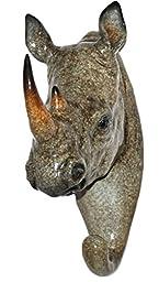 Glazed rhino Head Hanger YX5703A