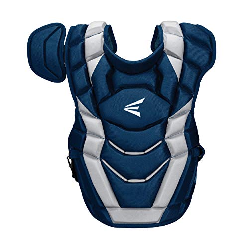 Easton Elite-X Catcher's Chest Protector, Adult, Navy/Silver