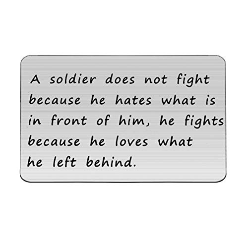 Zuo Bao Soldier Wallet Insert Gift for Husband Boyfriend from Military Mom Wife Military Wallet Card Insert Gift for Him (Soldier Wallet Insert)