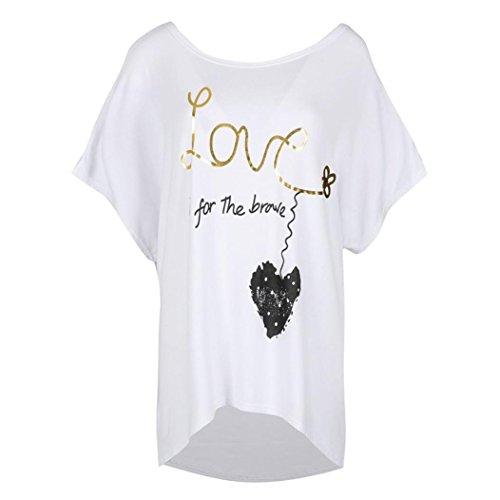 Donna Multicolore Ballerine Shirt165 SANFASHION Bekleidung Damen Multicolore Bianco SANFASHION pwF7PqO