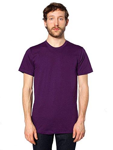 Courtes Manches shirt Eggplant T Unisexe American Violet À Apparel qIXCzwg