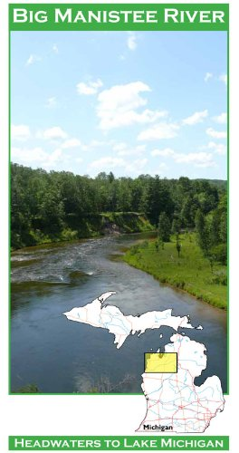 Big Manistee River 11x17 Fly Fishing Map
