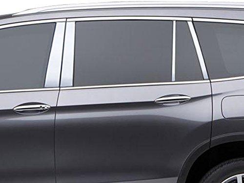 8 Pc: Stainless Steel Pillar Post Trim Kit. 4-Door, SUV QAA FITS Pilot 2016-2019 Honda PP16262