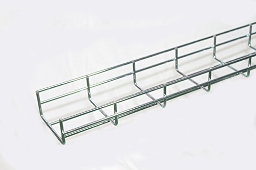 2 Cable Management Trays - WireRun Cable Tray, 2in H x 4in W x 6.56ft L, Electrozinc
