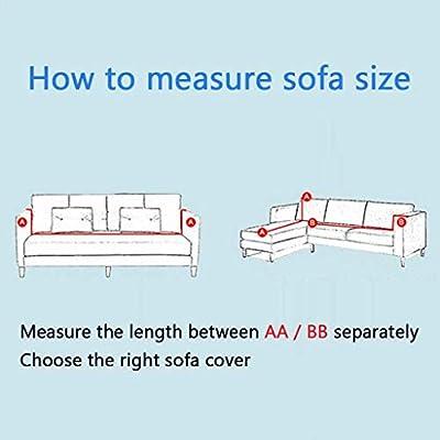 NO BRAND Muebles Sofá en Forma de l Cubiertas Funda de sofá de la ...