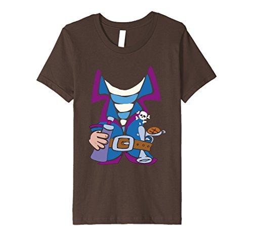 Last Minute Pirate Costume (Kids pirate costume T Shirt halloween t shirt last minute costume 8 Brown)