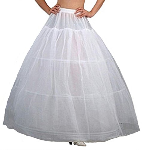V.C.Formark Crinoline Underskirt Petticoat Half slip for Wedding Bridal Dress White (Slip For Wedding Dress)