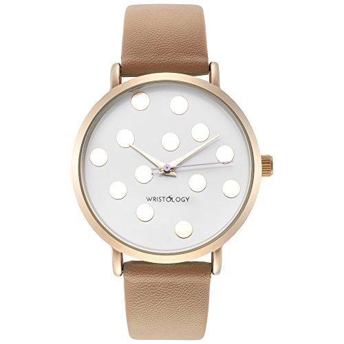 wristology-olivia-womens-polka-dot-gold-boyfriend-watch-sand-beige-leather-strap