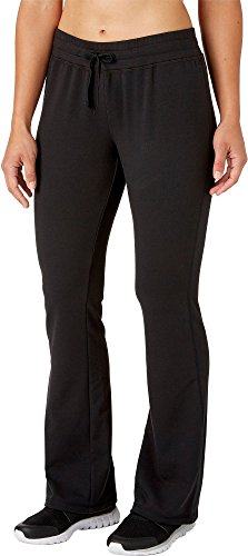 Reebok Women's French Terry Flare Pants (Caviar DD Solid, - French Pant Classic Terry Fit