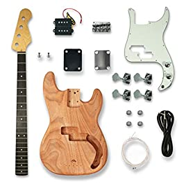 DIY Electric Guitar Kits For PB Style bass Guitar,Okoume Body