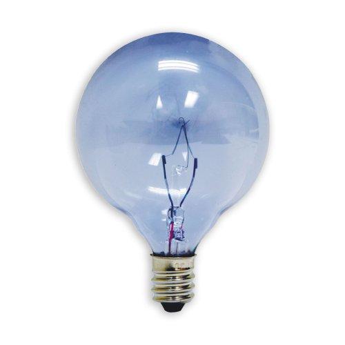GE Lighting 48703 25-Watt Reveal Candelabra Globe G16.5 2-Pack, 2-Pack (Globe Reveal)
