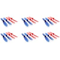 6 x Quantity of Extreme Fliers Micro Drone 3.0 Transparent Clear Blue and Red Propeller Blades Props Rotor Set 55mm Factory Units