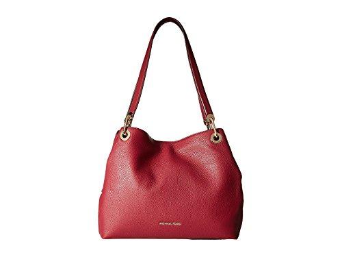 MICHAEL Michael Kors Womens Raven Pebbled Organizational Tote Handbag Red Medium