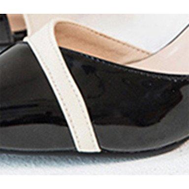 LvYuan Mujer Sandalias Confort PU Verano Casual Paseo Confort Combinación Tacón Stiletto Negro Beige Rosa 7'5 - 9'5 cms blushing pink