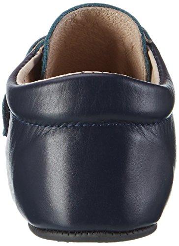 EN FANT Jungen Velcro Slippers Hausschuhe Blau (Navy)