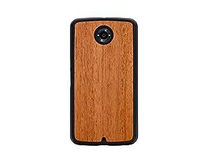CARVED Mahogany Nexus 6 Slim Matte Black Case-Retail Packaging-Wood