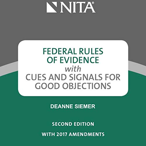Pdf Law Federal Rules of Evidence with Cues and Signals for Good Objections, 1st Edition