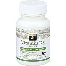 365 Everyday Value, Vitamin D3 400 IU, 100 ct