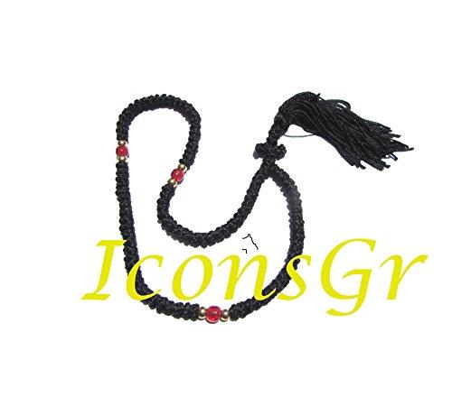 Handmade Christian Orthodox Greek Komboskoini, prayer Rope 100 knots with Red Bead ()