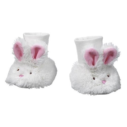 Ganz Baby Plush Bunny Slippers 0-12 -