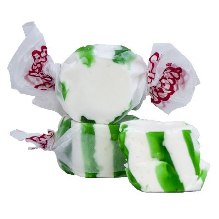 Taffy Town Gourmet Spearmint Salt Water Taffy, 5 Lb Bag (Green Striped Spearmint)