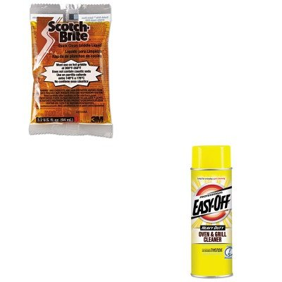 KITMMM29603RAC04250 - Value Kit - Reckitt Benckiser Oven amp;amp; Grill Cleaner (RAC04250) and Scotch-brite Quick Clean Griddle Liquid (MMM29603)